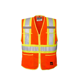 "Viking U6112 Open Road Mesh Economy Zippered Safety Vest with 4"" Safety Stripes"