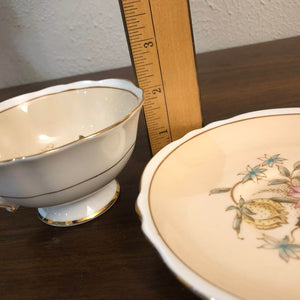 Paragon Vintage Double Warrant English Bone China Gold Rimmed Tea Cup & Saucer
