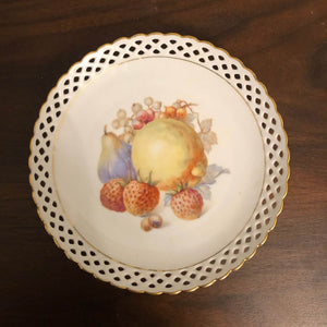 Vintage Schumann Arzberg Germany Lace Fruit Strawberry Pear Decorative Plate