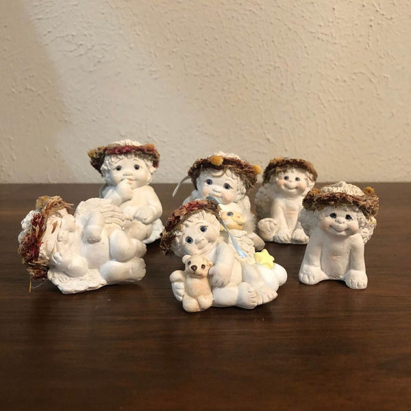 Vintage Angel Garden Gnomes Dreamsicles Figurines (Set of 6)
