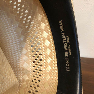 American Hat Co Poli Rope Neck Vented Straw Cowboy Hat 21""