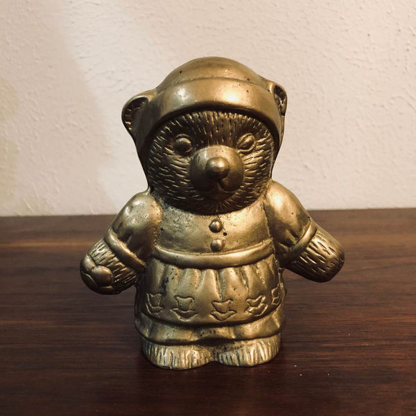 Hollow Brass Female Mama Bear Figurine
