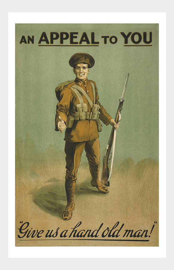 An Appeal To You : WWI Irish Recruitment Poster Military War Digital Download