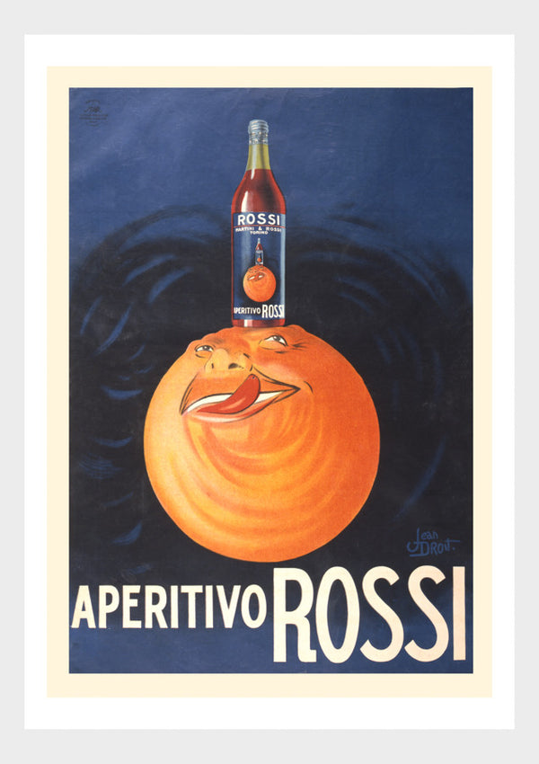 Aperitivo Rossi Italian Alcohol Booze Orange Advertising Poster Digital Download