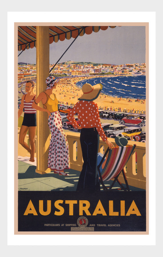 Visit Australia Beach Poster Digital Download