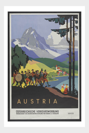 Visit Austria Travel Poster Digital Download