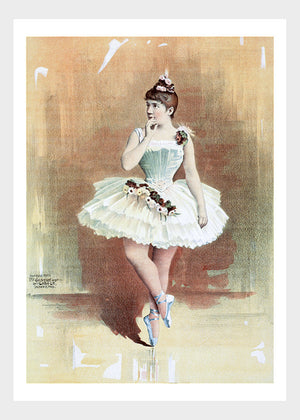 A Ballerina in Orange Print Ballet The Arts Digital Download