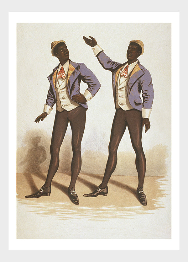 Two Black Gentlemen Singing On Stage Digital Download