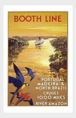 Booth Line Amazon Travel Poster Digital Download