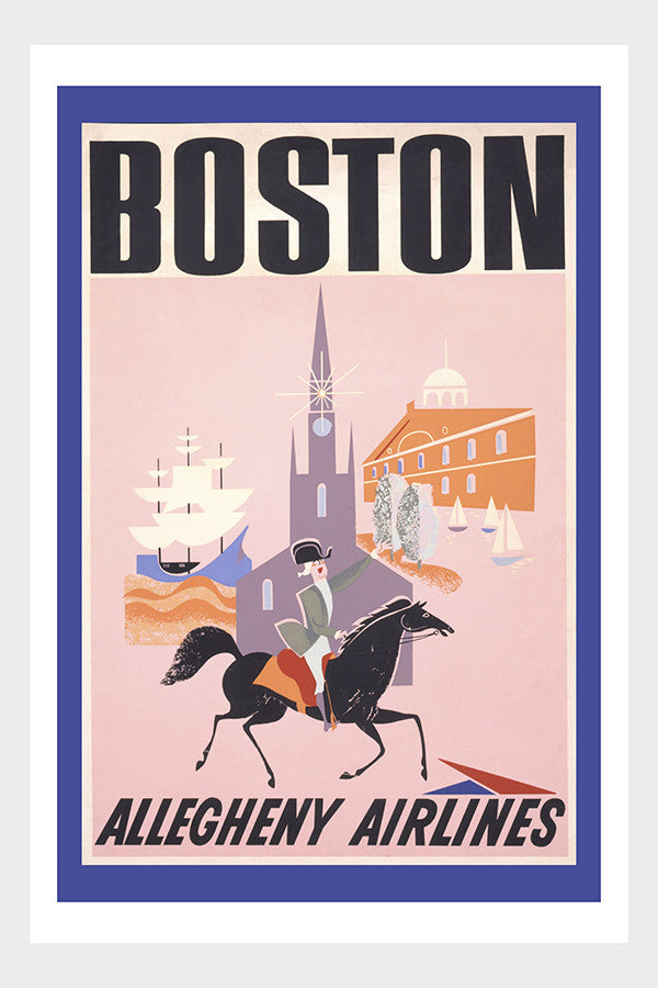 Visit Boston Travel Poster Digital Download