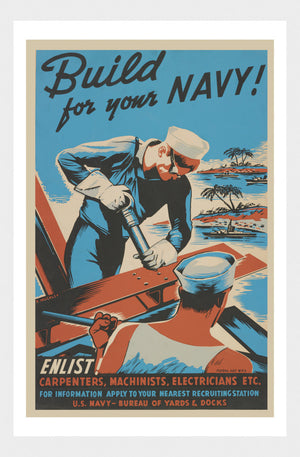 WWI Build For Your Navy Enlistment Poster Digital Download