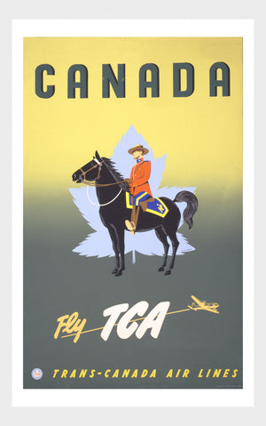 Visit Canada Fly TCA Airways Travel Poster Digital Download