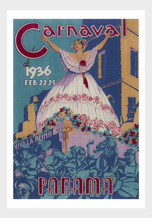 Carnaval Panama Travel Poster Digital Download