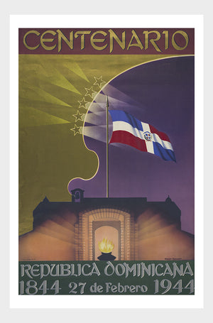 Dominican Republic Centennial Vintage Travel Poster Digital Download