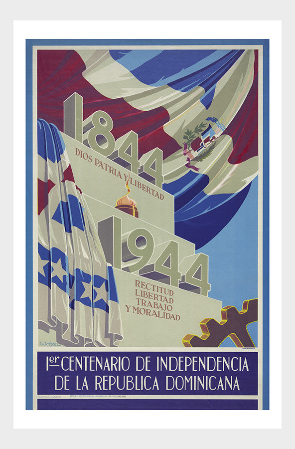 Dominican Republic Centennial Celebration Vintage Travel Poster Digital Download