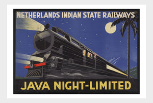 Dutch Railway Java Night-Limited Indonesia Vintage Travel Asia South East Asia Poster Digital Download