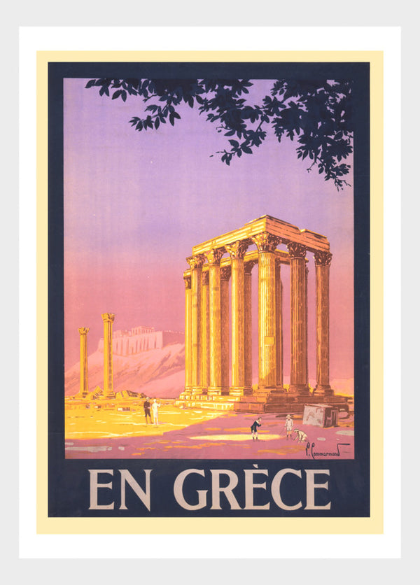 En Grece Visit Greece Athens Vintage Travel Poster Digital Download