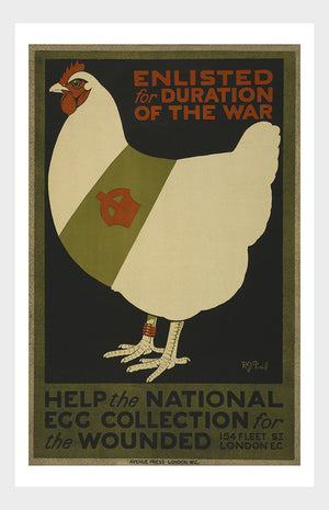 WWII Chicken Enlisted For The Duration Of The War Digital Download