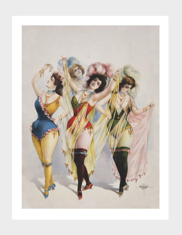 Feathered Burlesque Ladies Digital Download