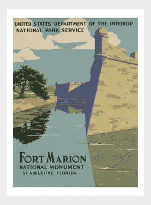 Fort Marion National Monument USA Travel Poster Digital Download