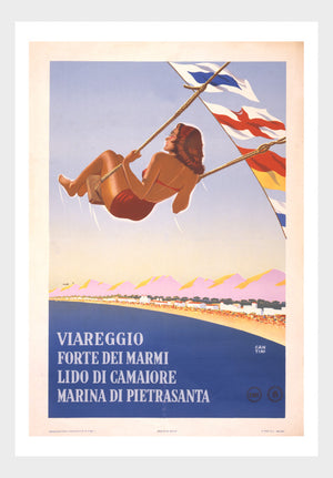 Forte Dei Marmi Italy Vintage Travel Poster Europe Digital Download
