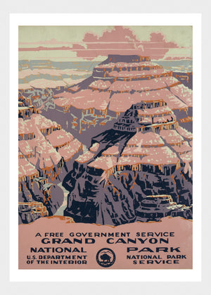Grand Canyon National Park USA Travel Poster Digital Download