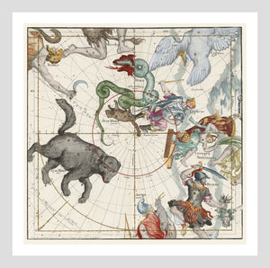 Ignace Gaston Pardies Plate 1 Celestial Sky Map Cartography Digital Download