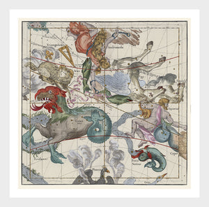 Ignace Gaston Pardies Plate II Celestial Sky Map Cartography Digital Download