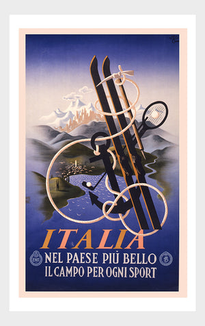 Visit Italia Sport Italy Travel Poster Digital Download