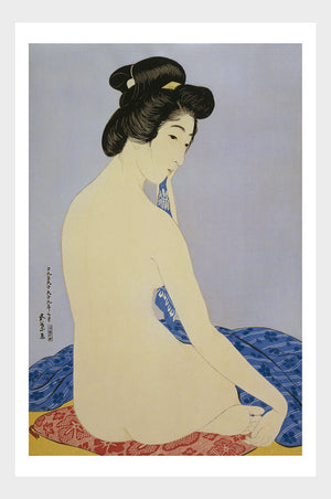 Woman After A Bath Shin Hanga Japanese Woodblock Print Digital Download