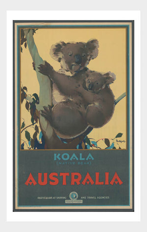 See Australia Koala Travel Poster Digital Download