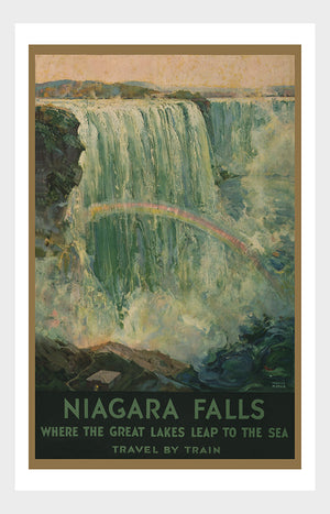 Niagara Falls Travel Poster Digital Download