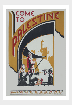 Come to Palestine Travel Poster Digital Download
