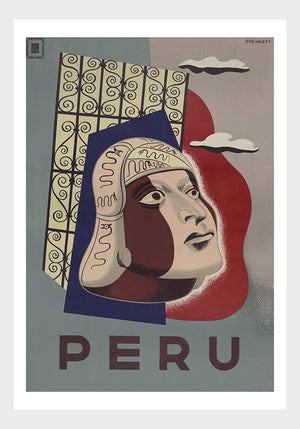 Peru Travel Poster Digital Download