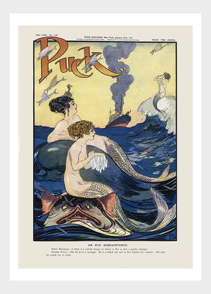Mermaids Flirting With Ocean Liner Passengers Digital Download