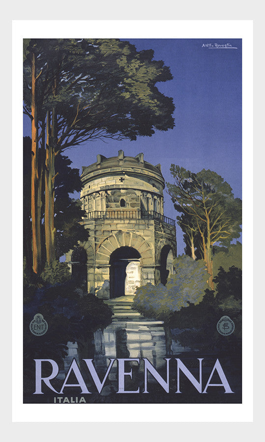 Ravenna Italia Italy Travel Poster Digital Download