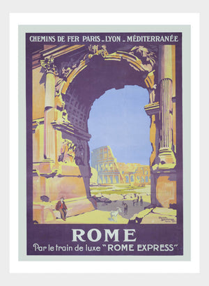 Rome Luxe Train Express Travel Poster Digital Download