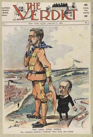 Theodore Roosevelt The Verdict Cover Political Cartoon Digital Download