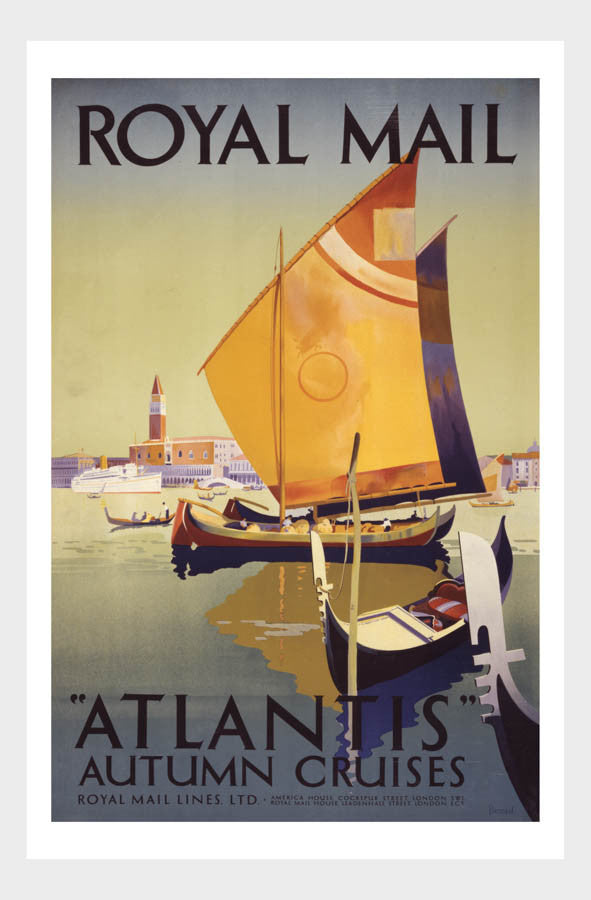 Royal Mail AtlantisTravel Poster Digital Download