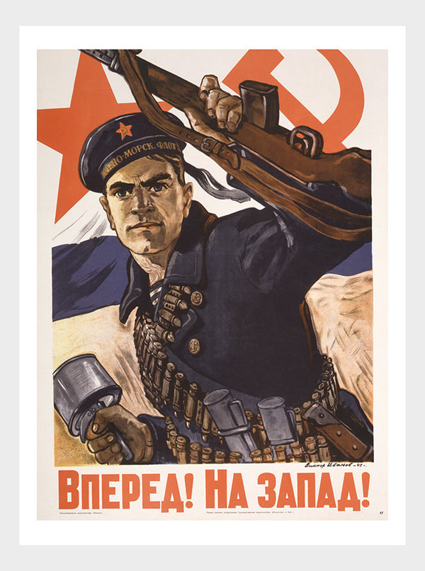Russian Soldier WWII Poster Digital Download