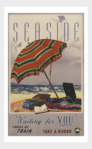 Seaside Australia Travel Poster Digital Download