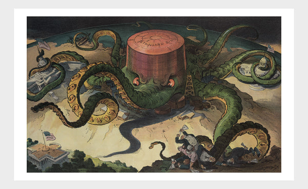 Standard Oil Octopus Political Cartoon Digital Download