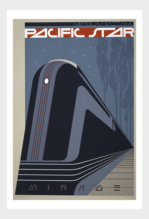 Pacific Star Train Travel Poster Digital Download