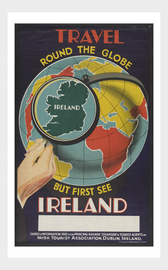 Travel Around The Globe See Ireland Travel Poster Digital Download