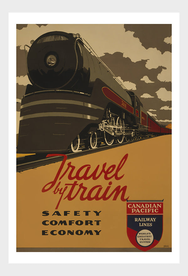 Travel By Train Canadian Pacific Travel Poster Digital Download