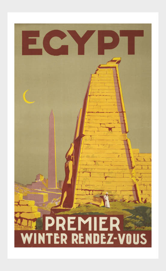 Egypt Premier Winter Rendezvous Vintage Travel Poster Middle East Digital Download