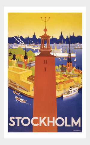 Visit Stockholm Sweden Travel Poster Digital Download