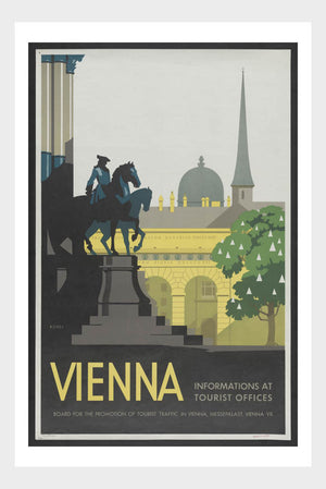Visit Vienna Austria Travel Poster Digital Download