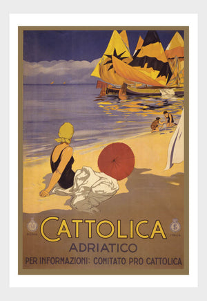 Visit Cattolica Adriatico Travel Poster Digital Download