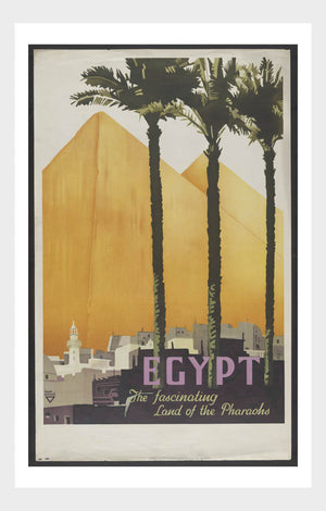 Visit Eygpt Pyramids Travel Poster Digital Download